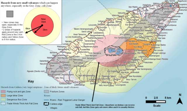 Éruption volcanique, des milliers de personnes évacuées — Vanuatu