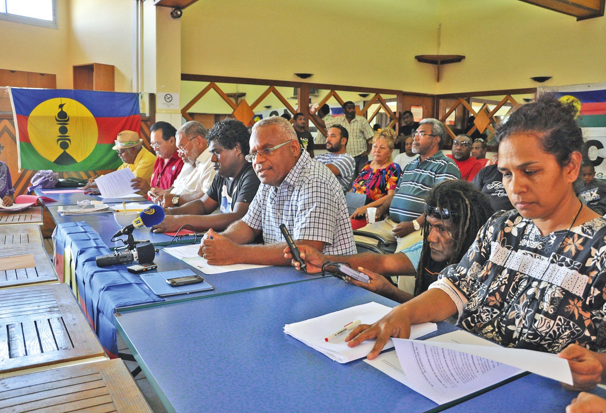 Yvon Faua, Louis Kotra Uregei, Christian Tein ou encore Sylvain Pabouty et Olga Nassele ont exposé hier leurs critiques après le Comité des signataires.