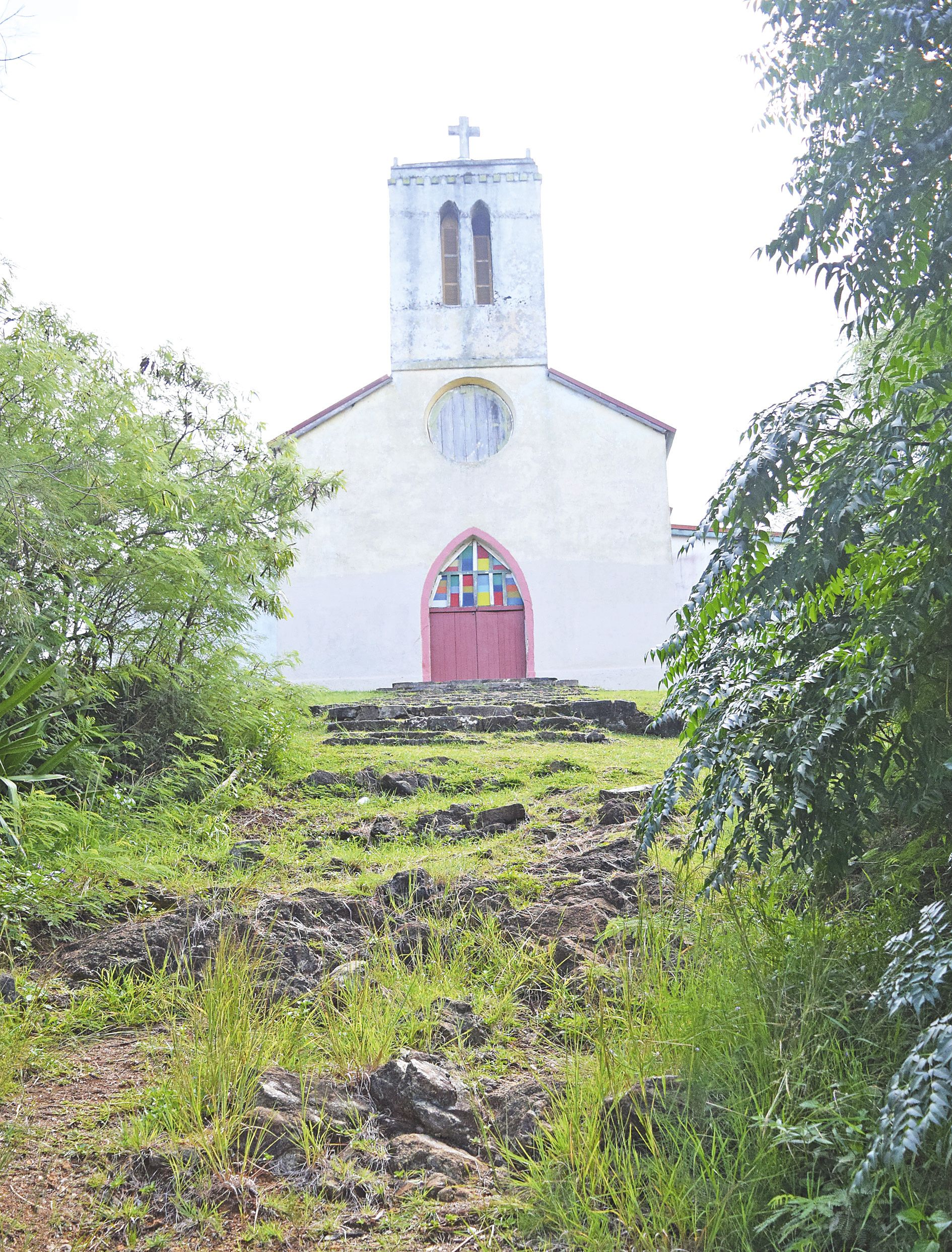 Le clocher carré de l'église de Waala est classé monument historique par la province Nord.