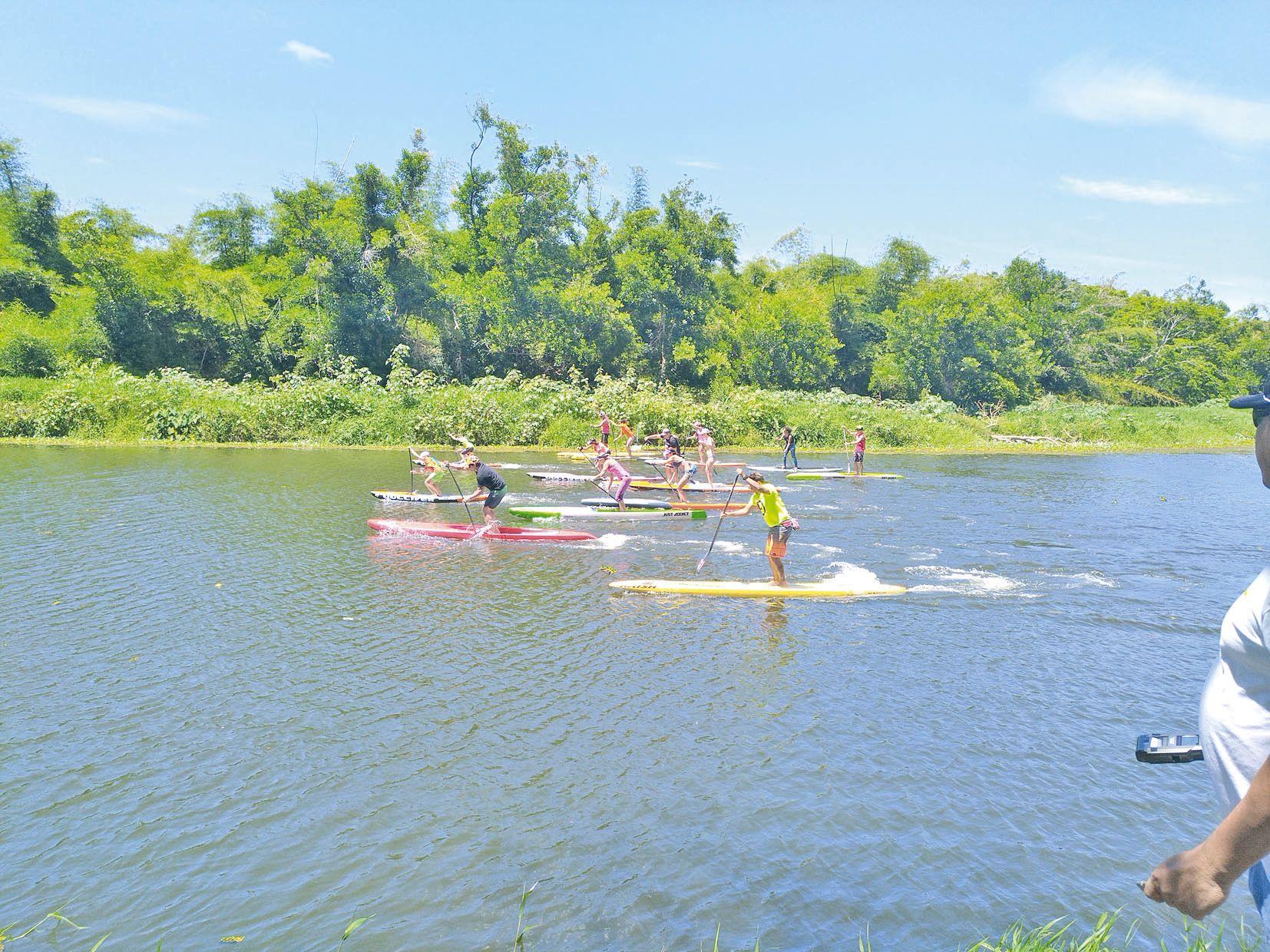 Le sport avait une place de choix ce week-end, comme ici avec la course de paddle, qui s'est déroulée samedi.