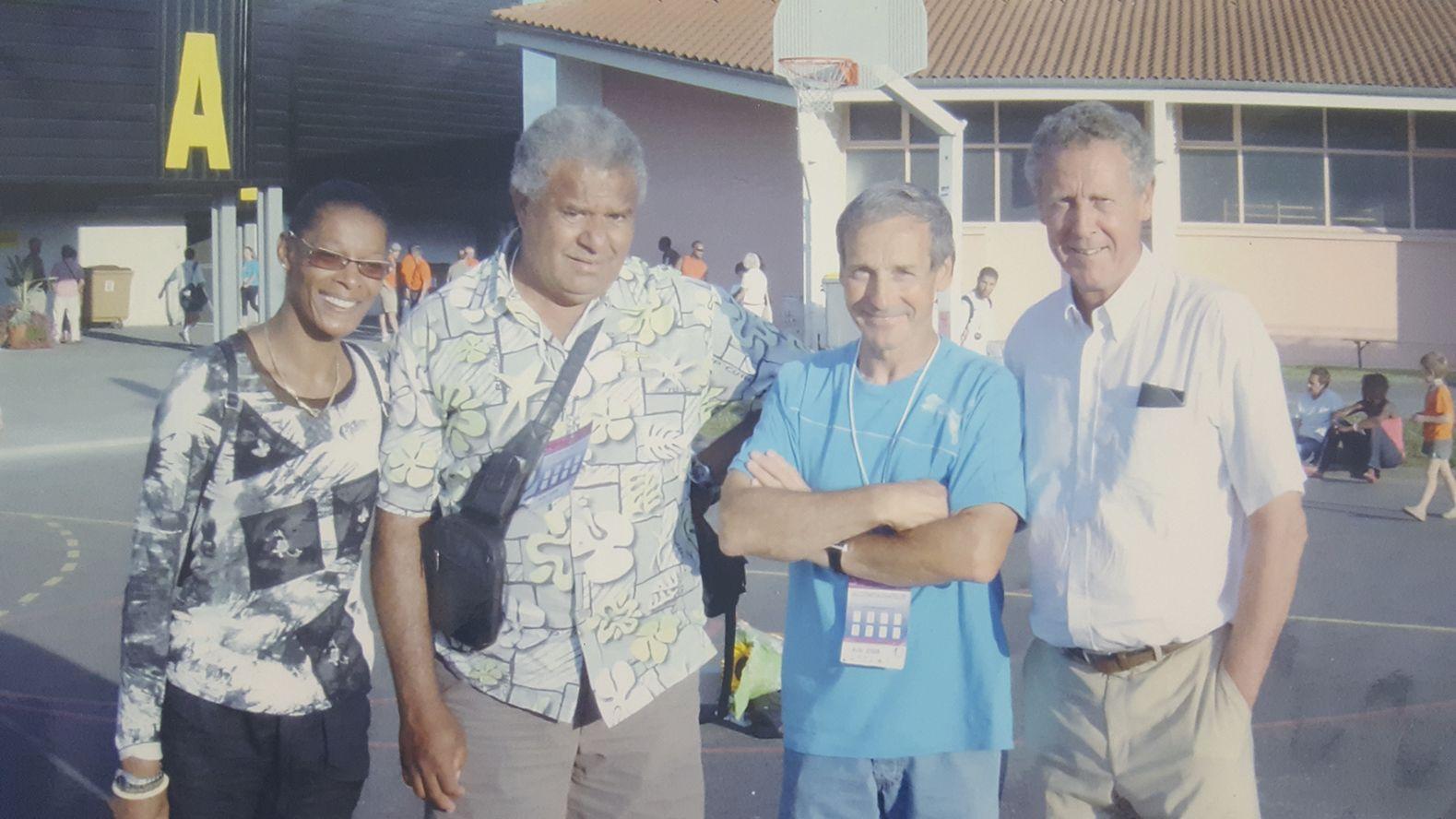 Paul Poaniewa, Jacques Piasenta et Guy Drut. Trois athlètes des années soixante-dix  qui se sont côtoyés à l'Insep durant des années.