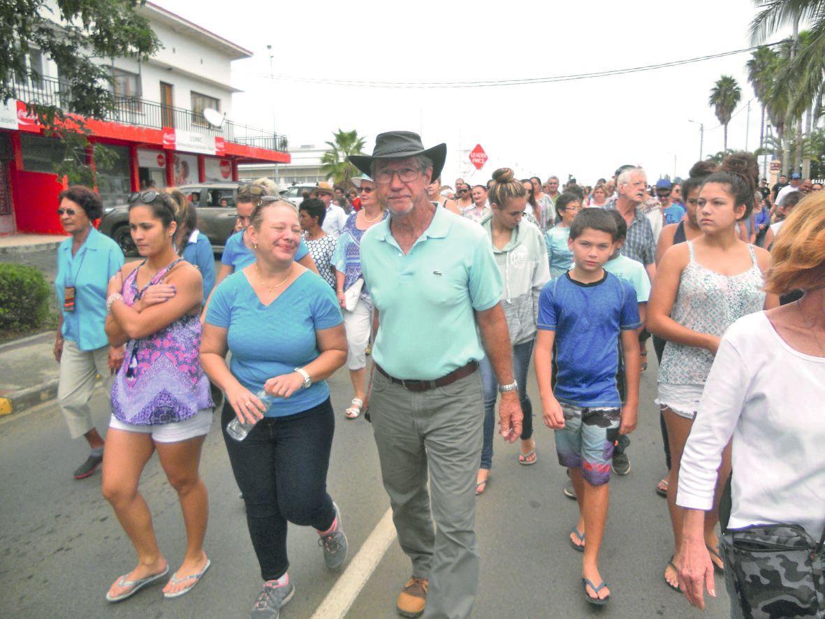 Jean-Pierre Blanc a accompagné les filles de la victime au cours de cette marche blanche.