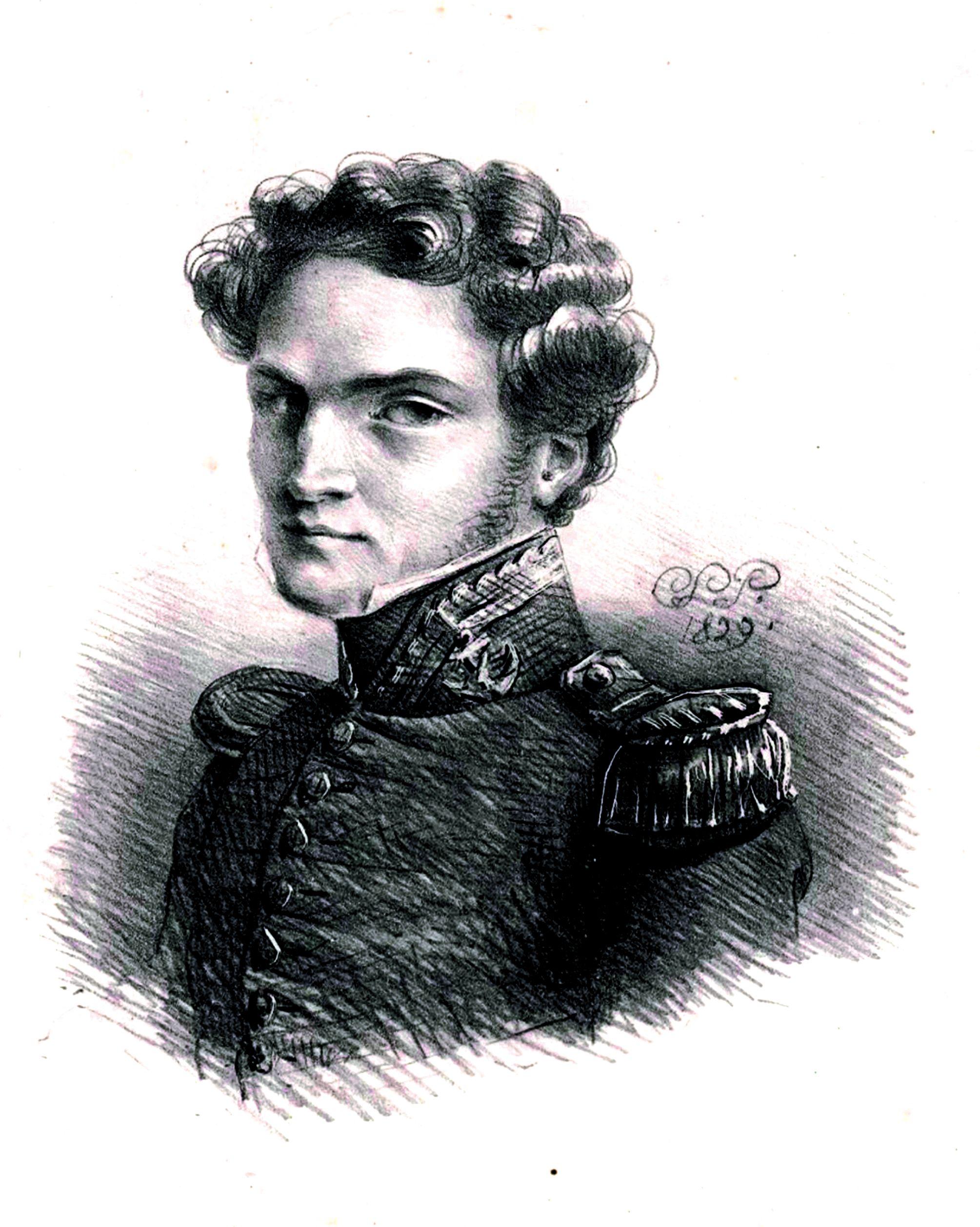 Le capitaine de vaisseau Joseph Fidèle Eugène du Bouzet.  National Librairy of Australia