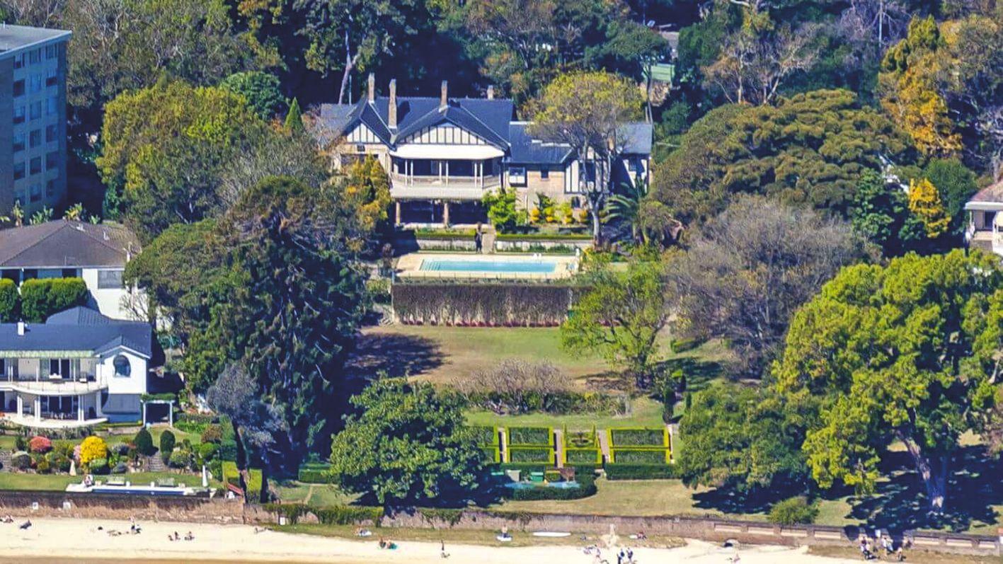 La villa est située dans le quartier très huppé de Point Piper, sur la baie de Sydney.Photo DR