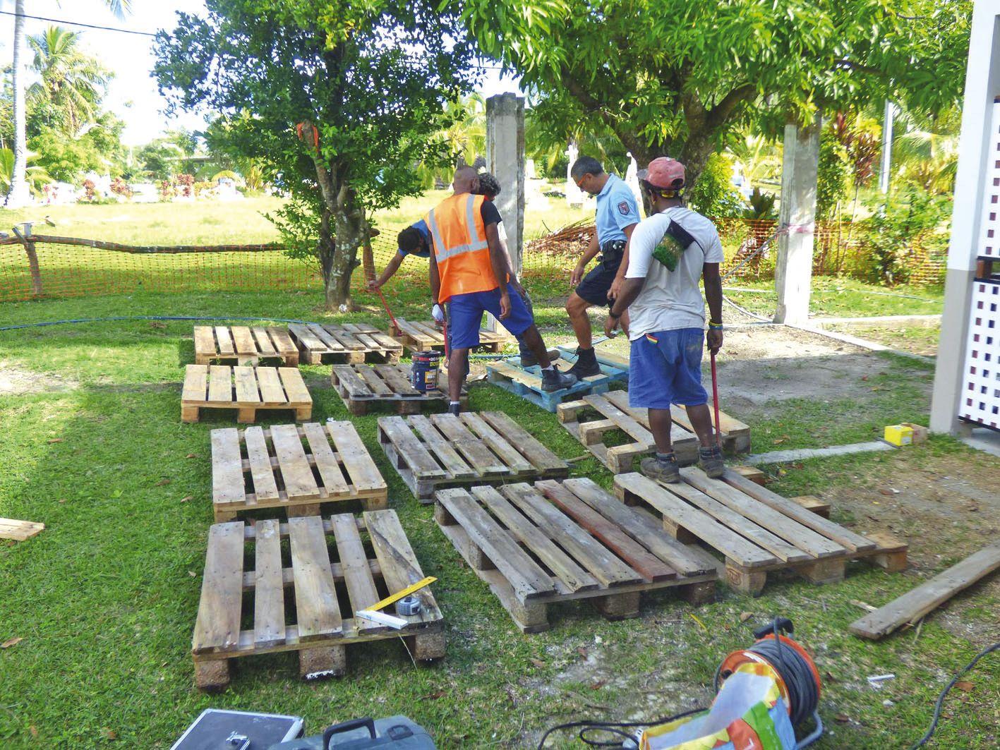 Les jeunes ont aussi effectué des travaux au profit de la brigade territoriale de gendarmerie de Wé.