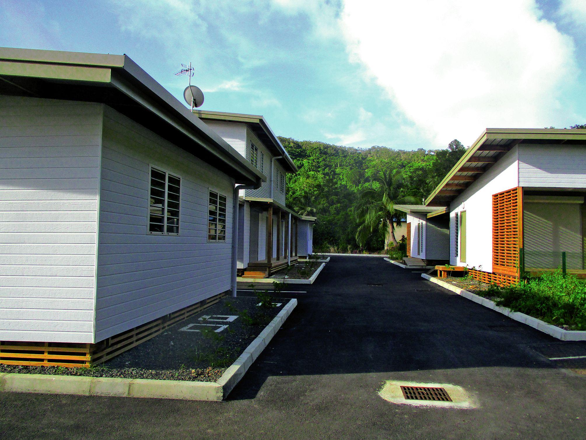 La construction des logements de la résidence le Tamanou est terminée. Photo S.P.