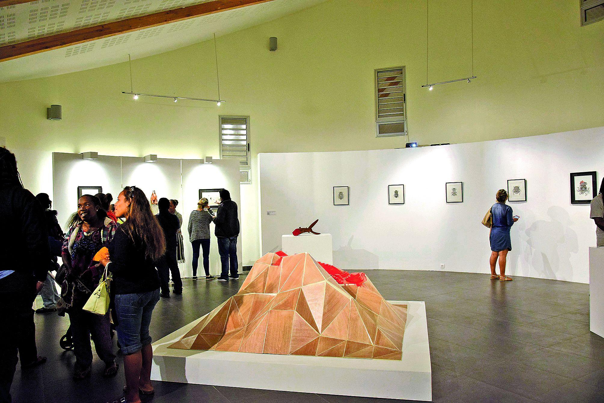 Lors du vernissage, le public est venu nombreux assister à la coutume d'accueil et saluer l'artiste. L'exposition connaît depuis un grand succès.