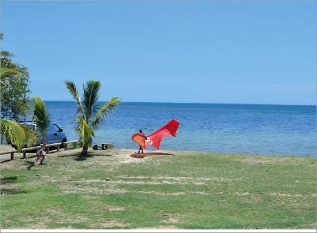 La plage de l'Aquarêve à côté de l'hôtel Méridien, au pied du Ouen Toro.
