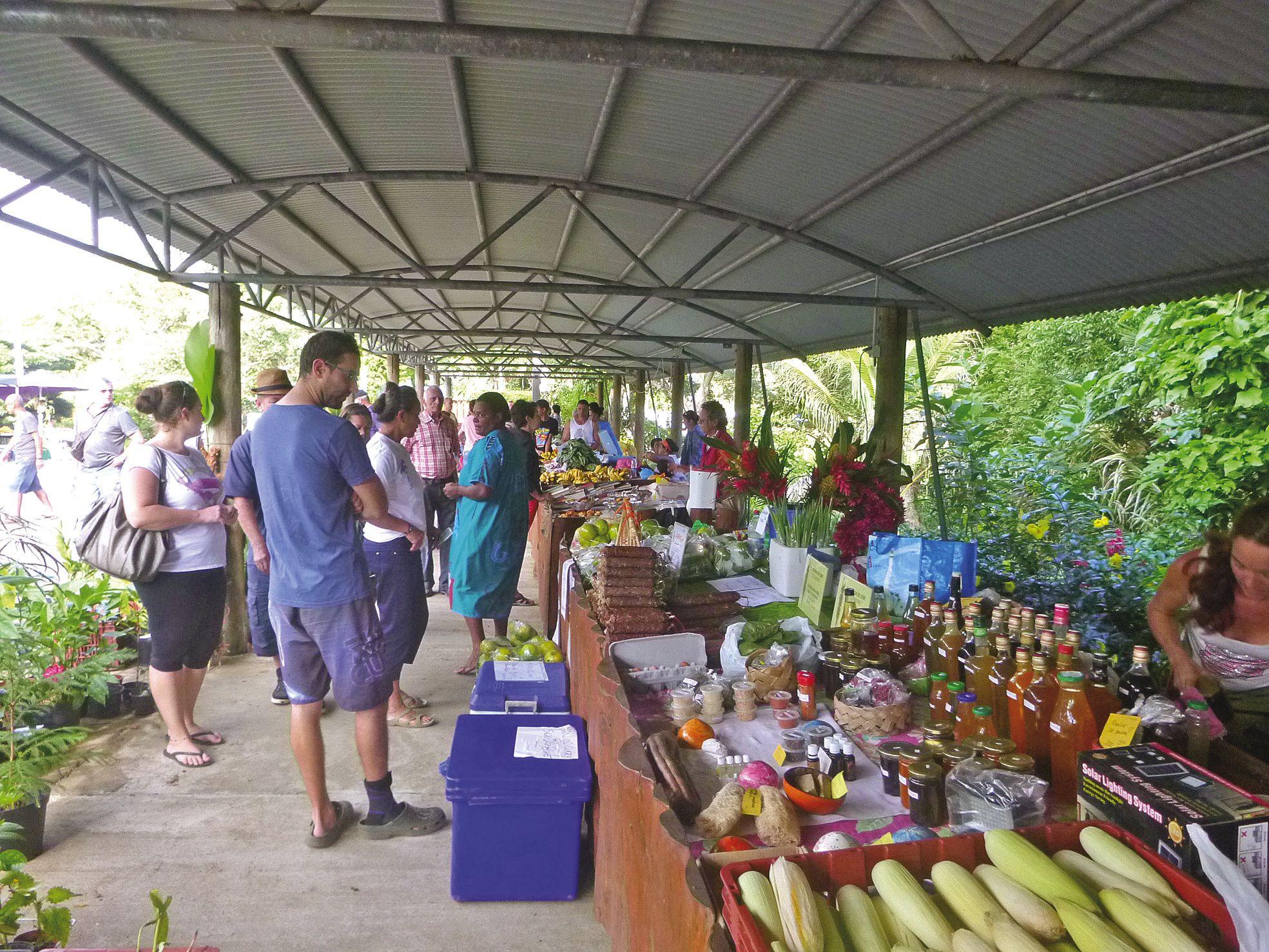 Chaque stand proposait de déguster ses produits : pâtés, confitures, canne à sucre,  gâteaux, saucissons, morceaux de fruits…