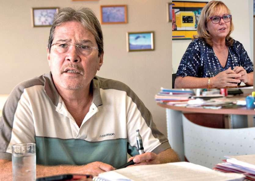 Philippe Michel et Martine Lagneau sont tous deux rattrappés par les soupçons d'emplois fictifs. Archives LNC