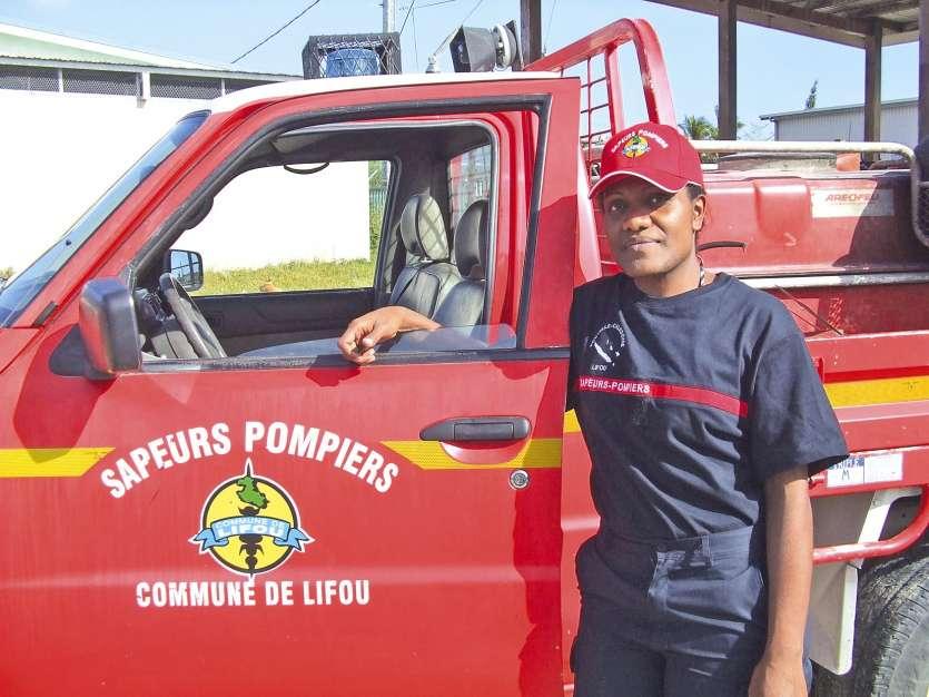 Cela va faire quatre ans que Florenda Huliwa porte les couleurs du centre d'incendie et de secours de Lifou.