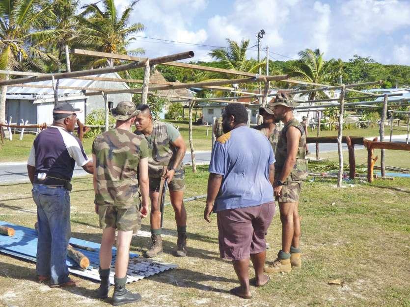 Vingt-six militaires du Rimap-NC (Régiment d'infanterie de marine du Pacifique Nouvelle-Calédonie) participent à l'aménagement du site.