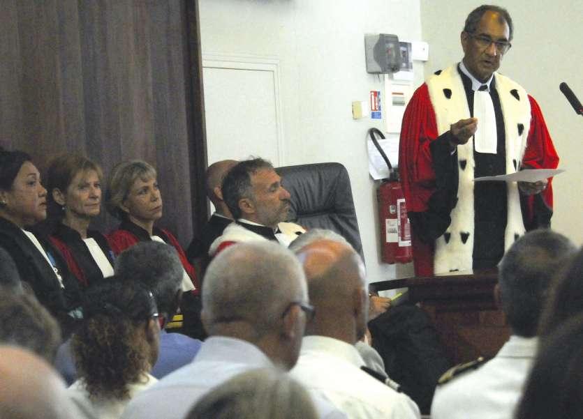 Le procureur général a répondu aux nombreuses attaques. « La fermeté de la justice se vérifie quotidiennement », a déclaré James Juan lors de l'audience de rentrée de la cour d'appel.