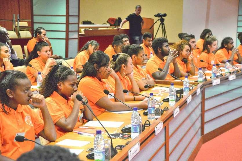 Le Congrès des jeunes, c'est 56 lycéens représentant tout le pays. Photo Thierry Perron