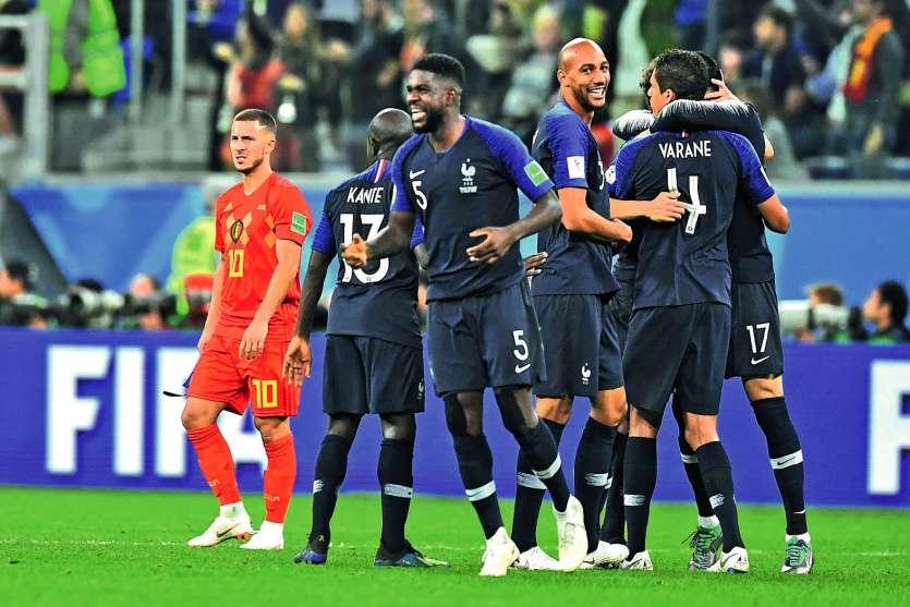 Samuel Umtiti met à genoux la Belgique. Il est le troisième défenseur à marquer dans cette compétition. photo AFP