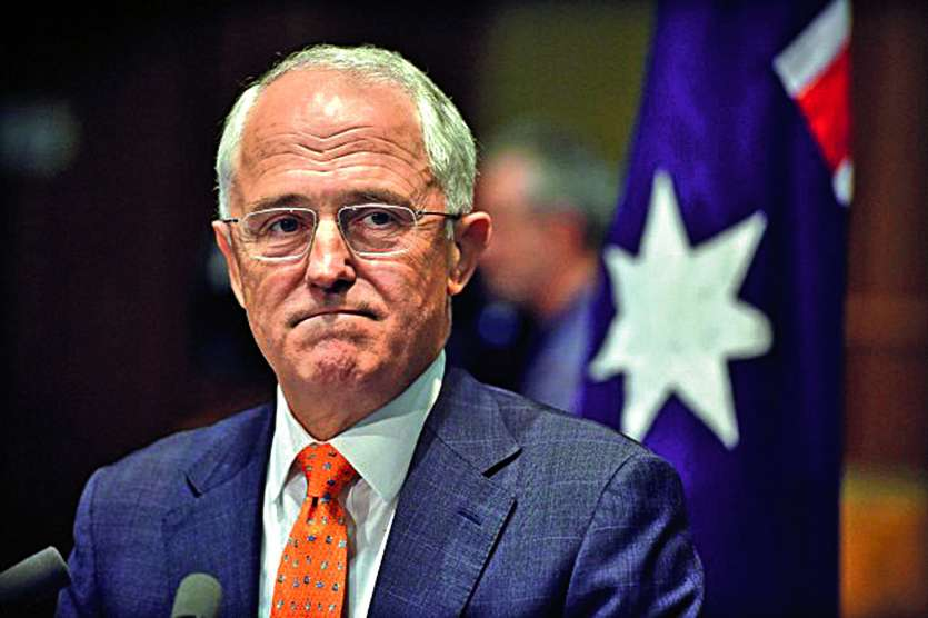 Malcolm Turnbull (photo) a désigné Peter Dutton comme le responsable de son éviction. Photo AFP