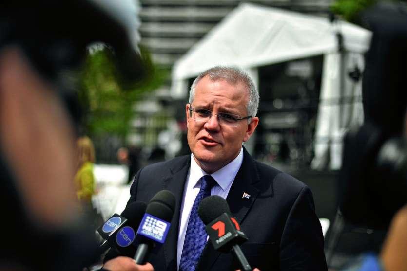 Le Premier ministre australien, Scott Morrison, est en position délicate. Photo AFP