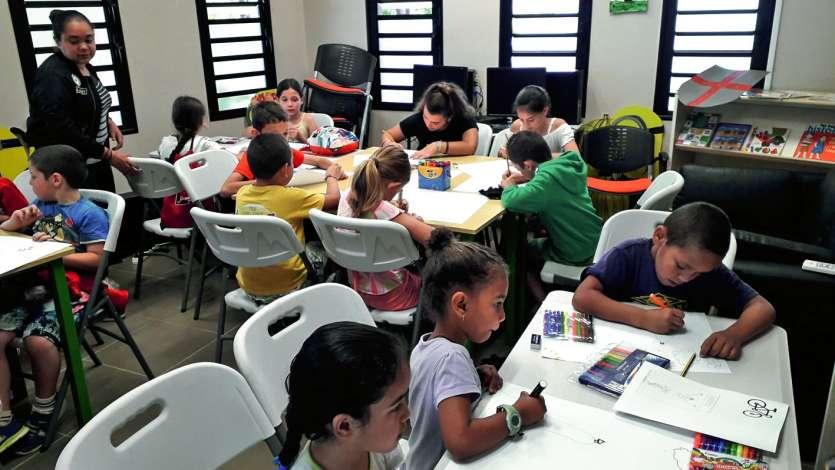 Dix-sept enfants, âgés de 6 à 12 ans, ont profité des trois jours d'activités proposés par la mairie de Farino et l'association Les petites fougères la semaine dernière. Après un premier jour dédié au Tour Air France de Calédonie, les jeunes participants