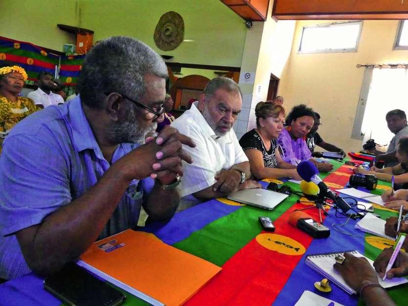 « Le peuple kanak, à plus de 90 %, est pour l\'indépendance » soutient Louis Kotra Uregei. Photo Y.M