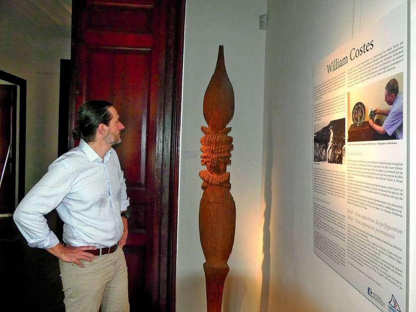« Cette exposition contient des pièces rares », souligne Jean-Baptiste Friat, directeur de la culture à la province Sud. Photos S.B