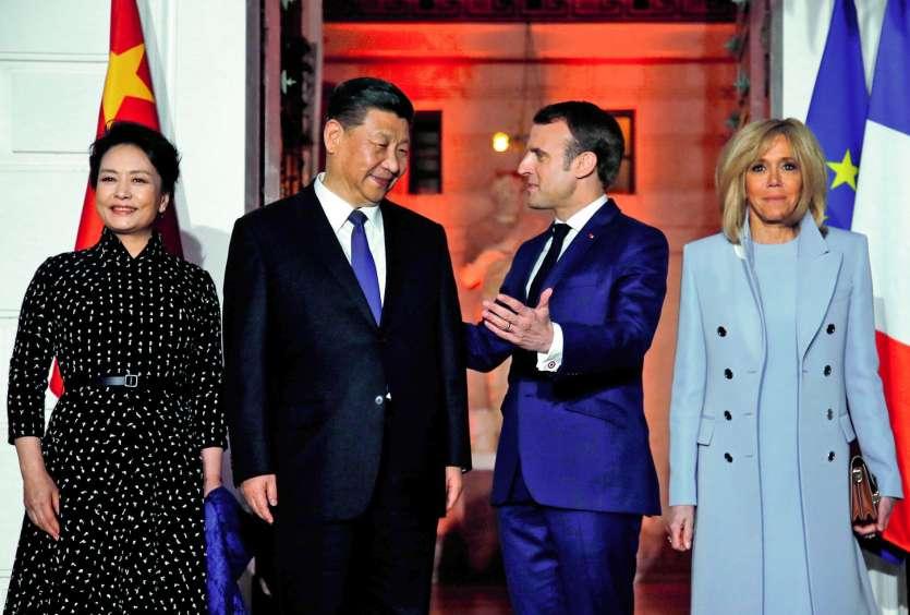 La visite du dirigeant chinois en France s'inscrit dans le cadre du 55e anniversaire des relations bilatérales entre les deux pays.Photo Jean-Paul Pelissier/AFP