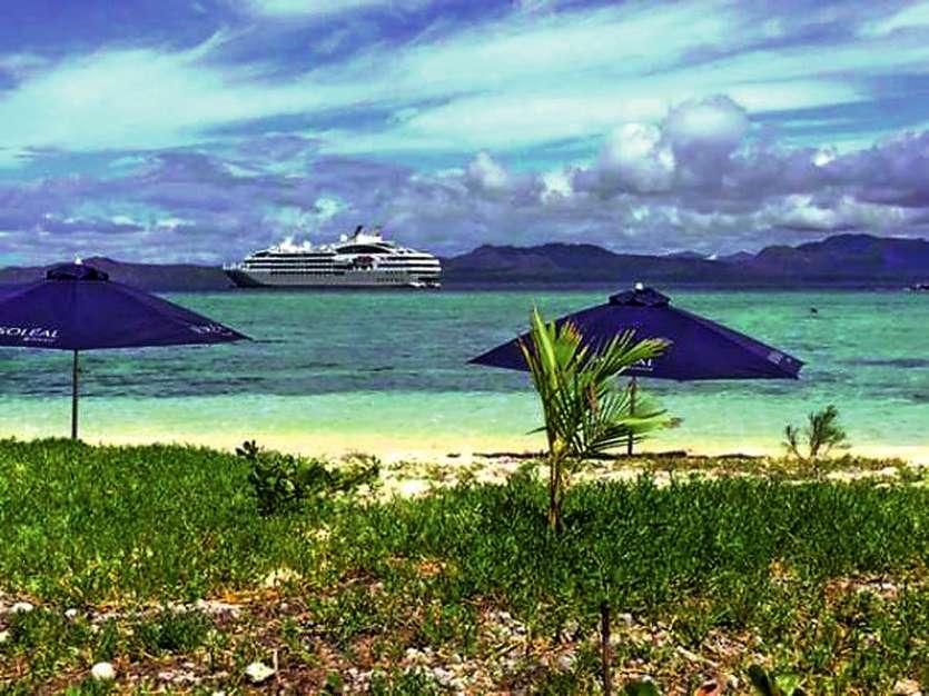 En décembre 2015, un navire du Ponant avait déjà fait escale en Calédonie, notamment à Yaté (notre photo). Photo LNC