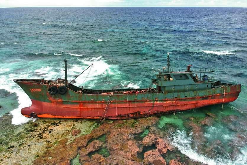 Le navire viendrait d'Asie, les investigations sont en cours. photo DR
