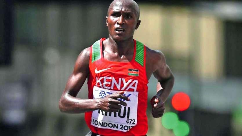 Tenant du titre, le Kényan Geoffrey Kirui devrait tout de même être au départ. Photo AFP