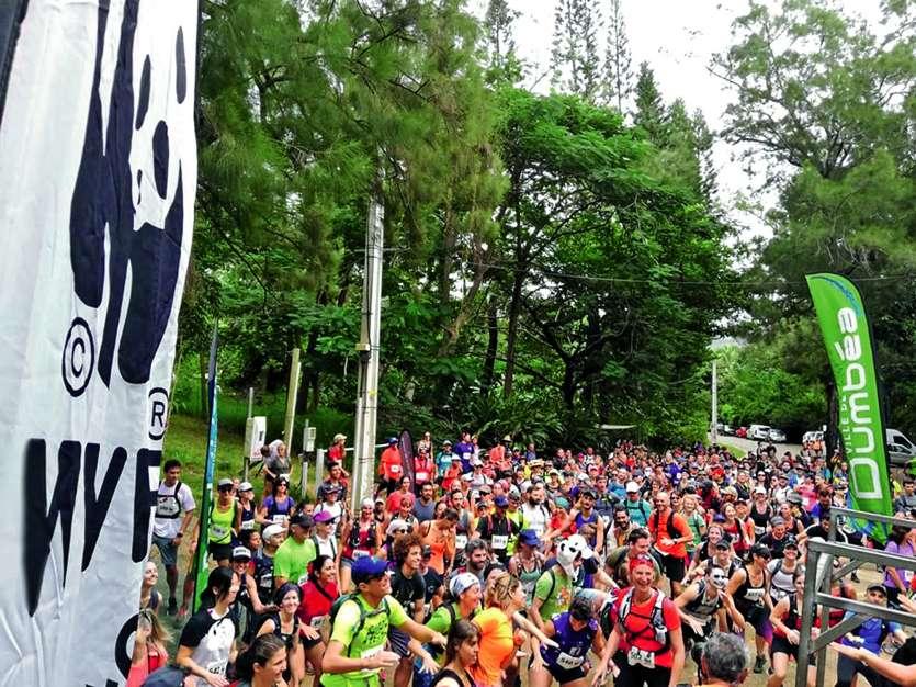 Ce sont 692 personnes qui ont participé dimanche matin à la 5e édition du Pandathlon à Dumbéa. Photo MRB