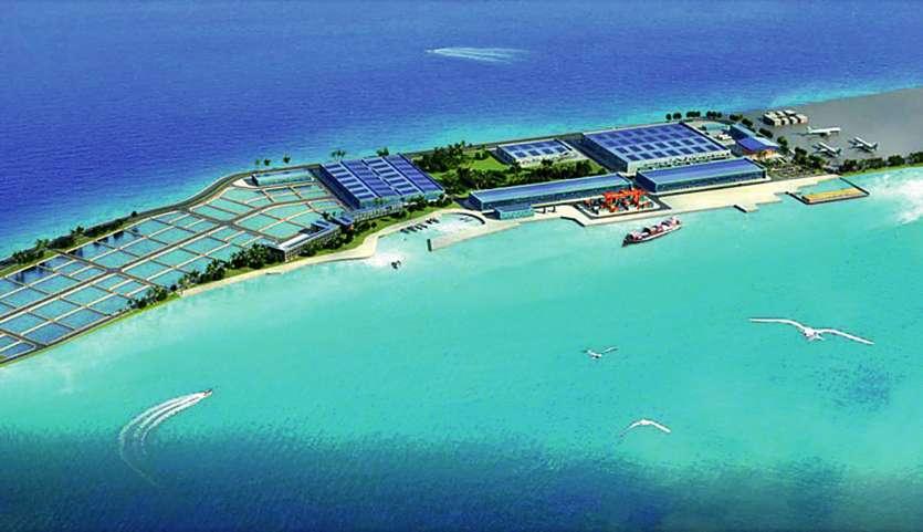 La ferme géante telle que la présente Tahiti Nui Ocean Food.  Le chantier devrait démarrer, au plus tard, début 2020. Photo DR