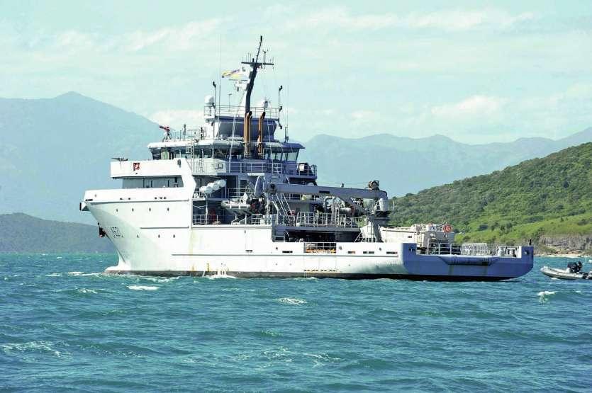 Le d'Entrecasteaux est un navire moderne qui est basé à Nouméa depuis 2016. Il a fait la une du journal Vanuatais, le Daily post. Archives LNC et DR