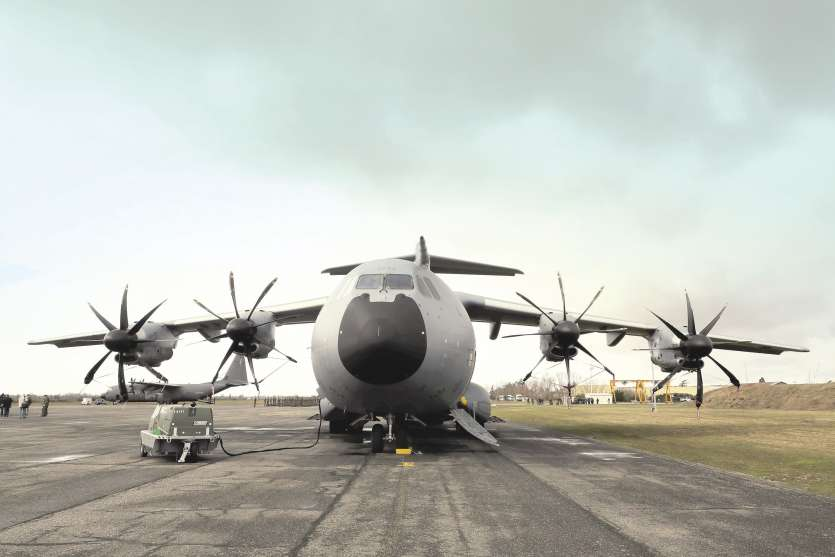 L'aéronautique, qui emploie 350 000 personnes en France, est un secteur stratégique. Ici, un Airbus A400M fabriqué pour l\'armée française. Photo DR