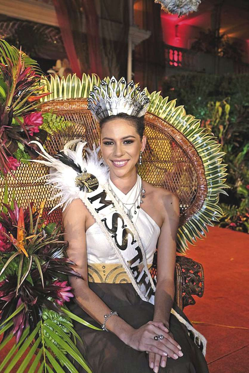 Matahari Bousquet est devenue la 59e ambassadrice de beauté de la Polynésie. Tahiti accueillera, en novembre, le voyage de préparation des candidates à Miss France 2020. Photo Radio1.PF