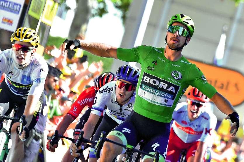 Le Slovaque, rock star du peloton, s'est adjugé la 5e étape, dans la nuit de mercredi à jeudi, en terre alsacienne. Photo AFP