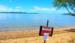 La baignade toujours interdite sur les plages de baie Toro et de Nouré