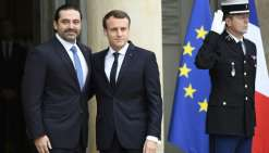 Le Premier ministre libanais démissionnaire Saad Hariri reçu par Emmanuel Macron