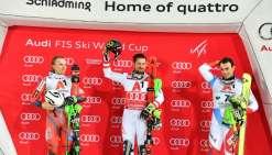 Ski: Marcel Hirscher remporte le slalom de Schladming et égale Maier