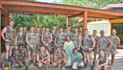 Azareu reçoit l'aide des militaires