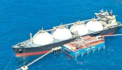 Le terminal gazier pourrait se situer dans la grande rade ou dans le prolongement de Nouville. Photo Gasfin