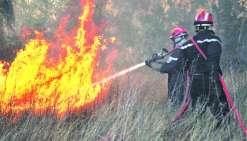 L'incendie toujours en cours à Koumac