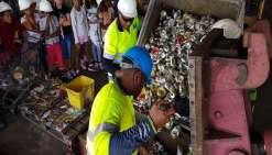Les élèves de Wé sur le chemin des déchets