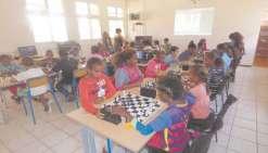 Les écoliers bataillent sur l'échiquier
