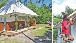Un dispensaire refait à neuf par les jeunes de l'île Ouen