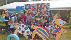 Des artistes en herbe  magnifient leur école à Pothé