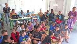 Un conte vanuatais réunit collégiens et écoliers