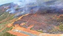 Les flammes ont ravagé environ 950 hectares de  végétation, selon un bilan établi hier par la Sécurité civile.