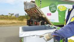 La petite étiquette qui permet  la collecte des déchets