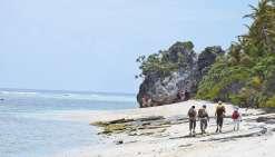 L'île accueille ses  premiers randonneurs