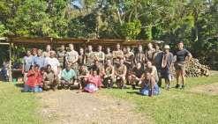 Les militaires en immersion à la tribu de Tiouandé