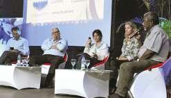 Les responsables syndicaux ont débattu au cours de tables rondes organisées pour ces 80 ans du Médef.